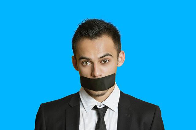 Человек контролирует речь