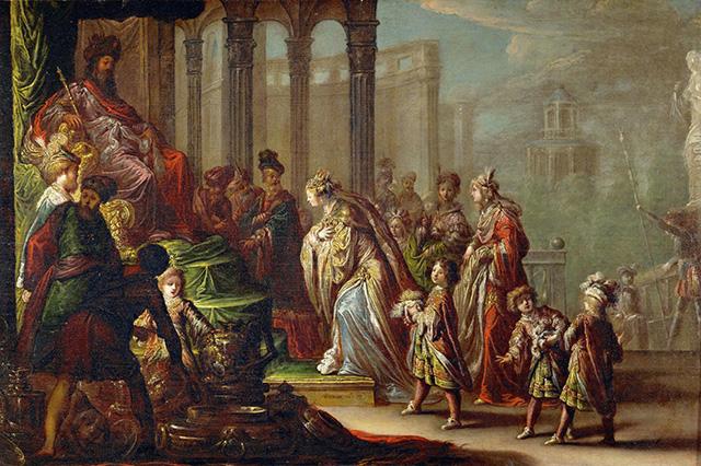 Эсфирь и царь Артаксеркс
