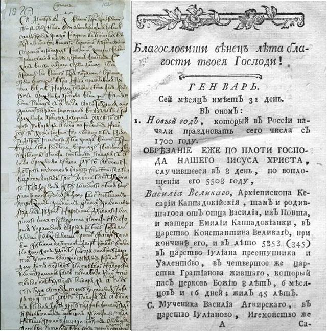 Уничтожение славянского календаря